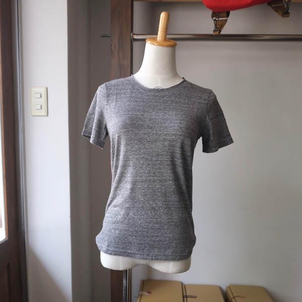 SARAXJIJI サラジジ lafie gauze ラフィーガーゼ C-neck CS Short Sleeve charcoal