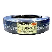 【送料無料】 SVCTF23T ビニルキャブタイヤコード ソフトVCTF2.0SQ*3クロ*100m 富士電線