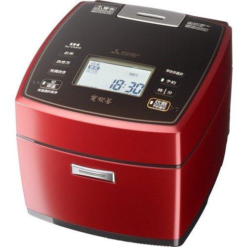 【送料無料】 NJ-VXA10-R IH炊飯器 5.5合炊き 備長炭 炭炊釜 赤紅玉 取寄商品 三菱 MITSUBISHI