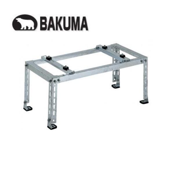 材料マーケットのザイマ 電材 家電 激安 工具ならお任せ下さい バクマ工業 B-HM3 高価値 傾斜置用 溶融亜鉛メッキ仕上げ エアコン室外ユニット用据付架台 平地 取寄商品