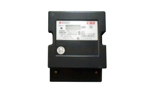 【送料無料】 A6EAR 電子式電力量計(誘導形電力量計形状互換)60Hz 西日本 大崎工業