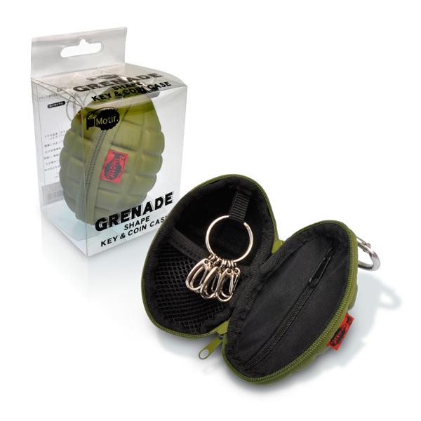 玩具手榴弹形键 & 硬币! 小玩意硬币案例密匙环与钱包硬币进硬币钱包手表女士时尚钥匙圈炸弹进口货物和玩具而不是辛西娅的礼物和杂物