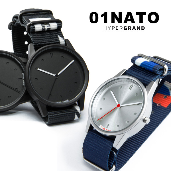 腕時計 ハイパーグランド HYPERGRAND 01NATO NATOベルト ナイロンベルト ナトー メンズ レディース 男女共用 ユニセックス デザイン ブランド プレゼント 贈り物 【あす楽対応可】