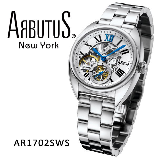 ARBUTUS アルブータス New York 腕時計 AR1702SWS 機械式ムーブメント ニューヨーク レディース ステンレスベルト ケース ブランド 贈り物 プレゼント ギフト 【2年保証】