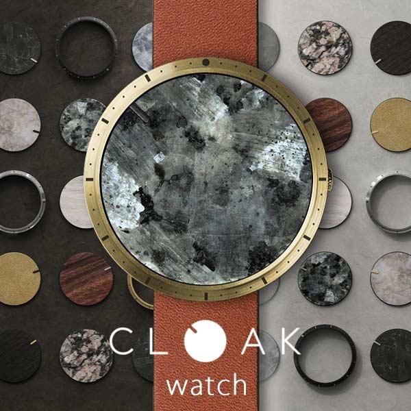 CLOAK クローク 腕時計 メンズ レディース スターターパック 天然素材 石 木 デザインウォッチ ファッションウォッチ レザーベルト 本革 ケース ブランド ユニーク 個性派 贈り物 プレゼント ギフト 【1年保証】