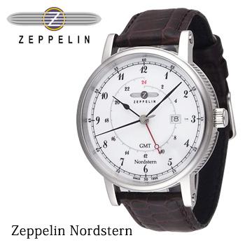 【スーパーSALE大特価】★ ZEPPELIN ツェッペリン GMT 腕時計 メンズ Nordsten ノルドスタン 75461-1 75461-3 送料無料 プレゼント 【あす楽対応可】
