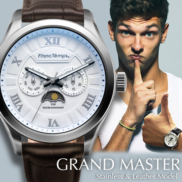 And men's watches Franc Temps / Fran Temps GRANDMASTER mens Men's udedokei brand ranking watch funny rather than gadgets Cynthia