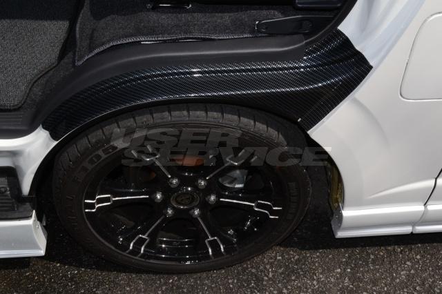 HEARTS ハーツ ハイエース 200系 1型 2型 3型 4型 ワイド 標準 ナロー共通 タイヤハウスカバー 左右セット