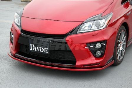 DIVINE プリウス G's 30系 フロント アンダーカナード ディヴァイン