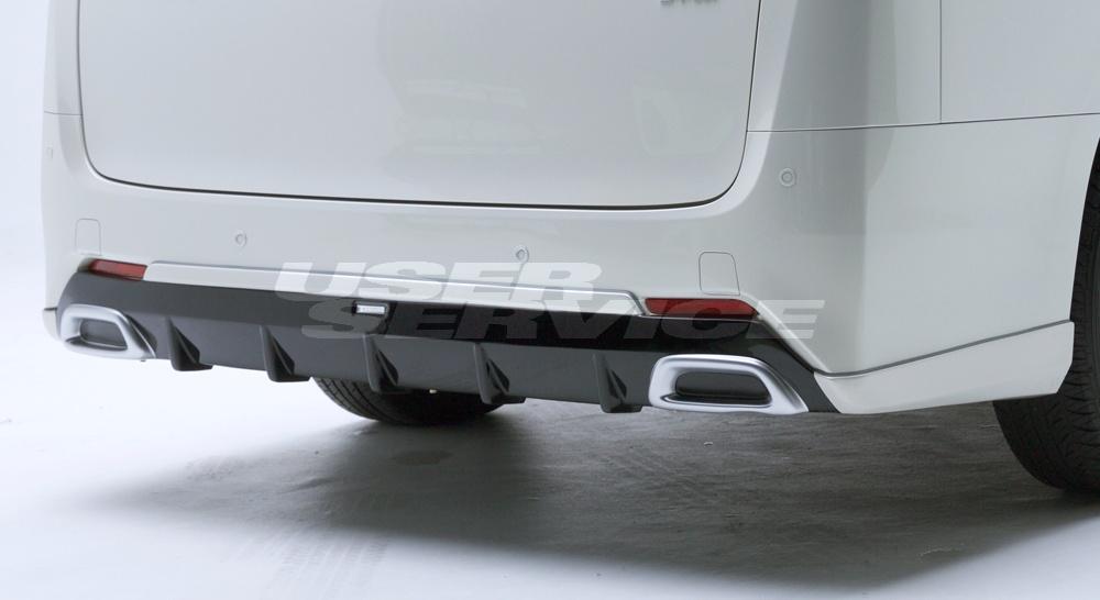 LXモード ヴェルファイア ヴェルファイアハイブリッド 30系 AGH30/35 GGH30/35 AYH30 後期 LXカラードリアアンダースポイラー 標準バンパー 塗装済 LX-MODE 配送先条件有り