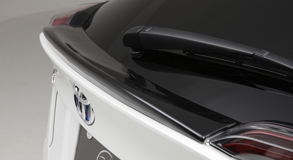 LXモード C-HR ZYX10/NGX50 LXブラック リアスポイラーガーニッシュ 艶有りブラック塗装仕上げ LX-MODE 配送先条件有り