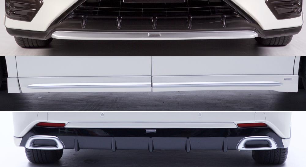 納期未定 LXモード アルファード アルファードハイブリッド 30系(AGH30/35 GGH30/35 AYH30) 前期 エアロパーツ 3点セット 塗装済 LX-MODE 配送先条件有り