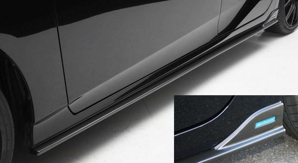 LXモード プリウス 50系 ZVW50 51 55 後期 LXカラード サイドスポイラー ガンメタリック塗装仕上げ LX-MODE 配送先条件有り