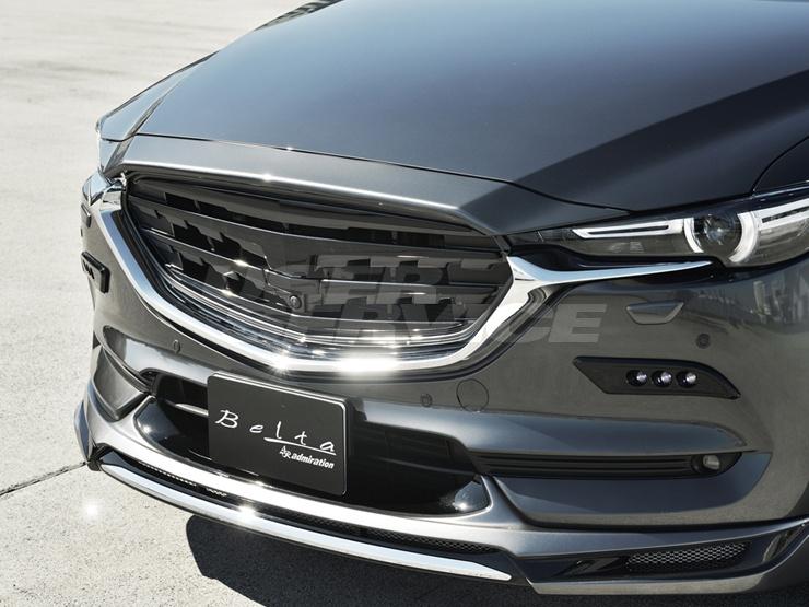 アドミレイション CX-8 KG5P KG2P フロントフェイスグリル 360°ビュー・モニター非装着用 2色塗り分け塗装済 ADMIRATION Belta ベルタ 個人宅発送追金有