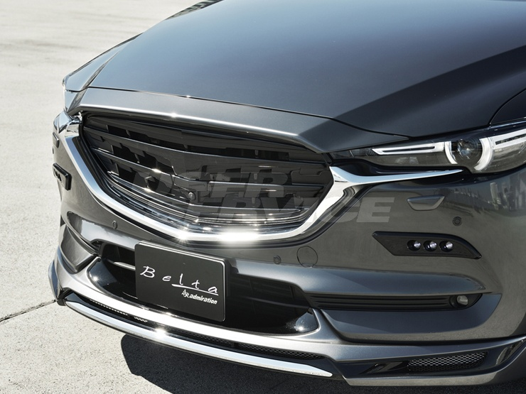 アドミレイション CX-8 KG5P KG2P フロントフェイスグリル 360°ビュー・モニター装着用 2色塗り分け塗装済 ADMIRATION Belta ベルタ 個人宅発送追金有