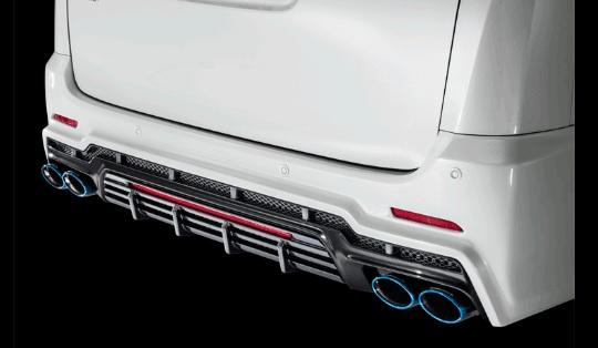 アドミレイション ヴェルファイア 30系 GGH/AGH 30・35/AYH30 リヤバンパースポイラー V2 LEDローマウントディフューザー付き 未塗装 ADMIRATION Belta ベルタ 配送先条件有り