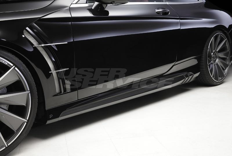 WALD ヴァルド メルセデスベンツ C217 S-CLASS クーペ サイドステップ 未塗装 SPORTS LINE BLACK BISON EDITION スポーツラインブラックエディション