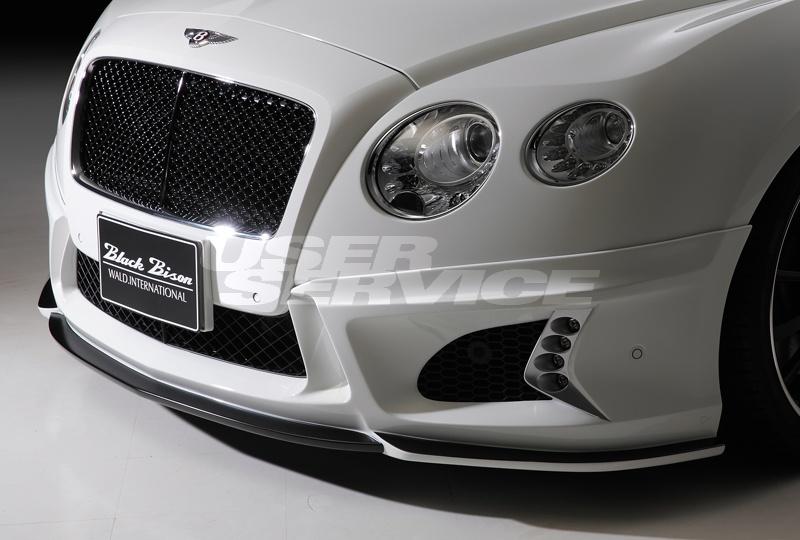 WALD ヴァルド ベントレー GT コンチネンタル フロントバンパースポイラー 未塗装 SPORTS LINE BLACK BISON EDITION ブラックバイソン エディション