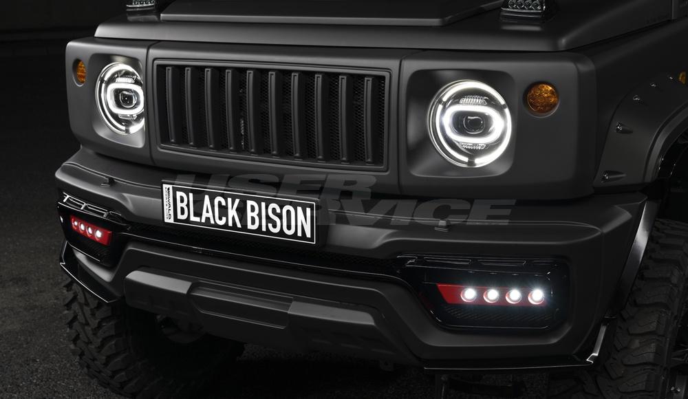 WALD ヴァルド ジムニー シエラ フロントバンパースポイラー SPORTS LINE BLACK BISON EDITION スポーツラインブラックエディション