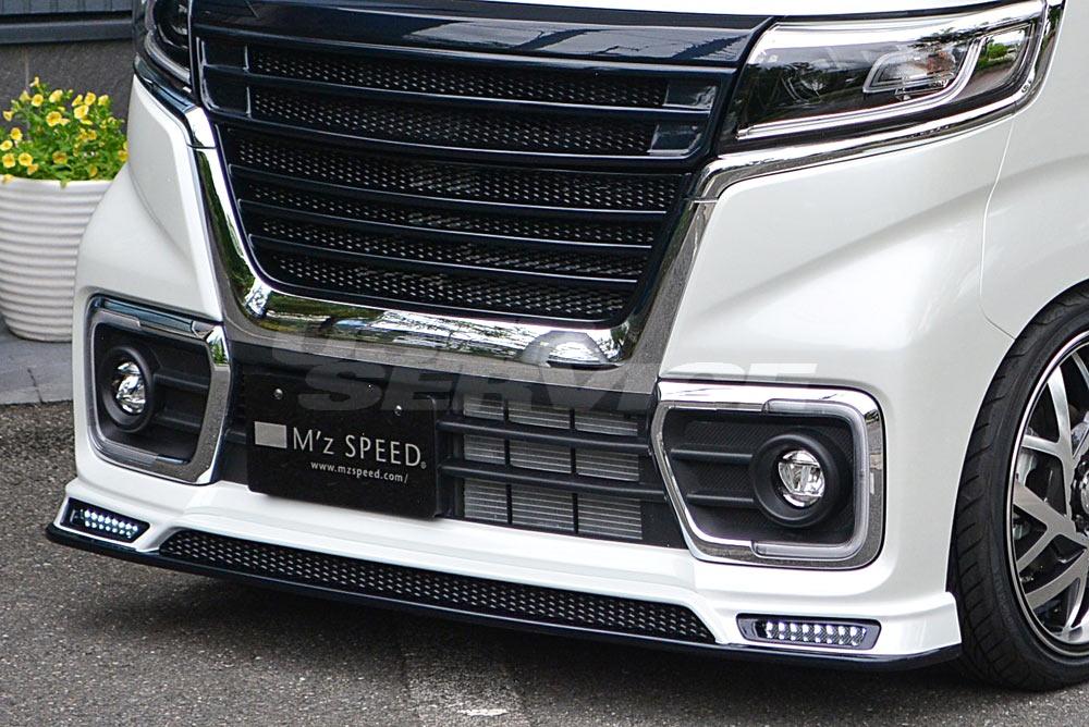 M'z SPEED エムズスピード スペーシア カスタム MK53S フロントハーフスポイラー 単色塗装済み GRACE LINE 3142-1112 エクスクルーシブ ゼウス ZEUS