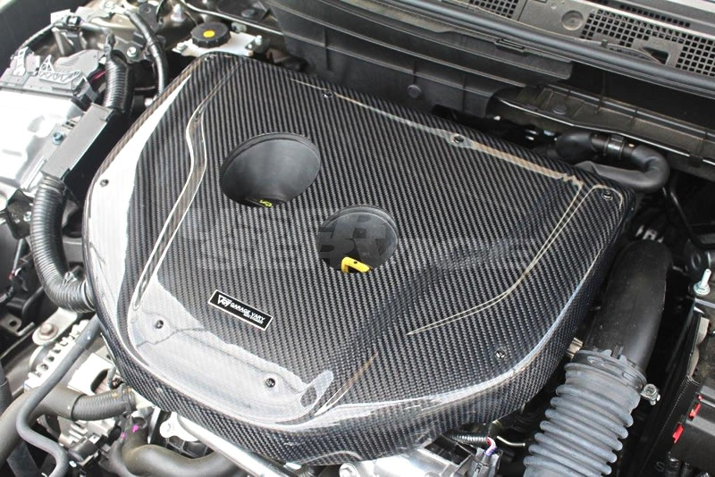 ガレージベリー アクセラスポーツ BM系 後期 エンジンフードカバー 綾織カーボン 21-8001 GARAGE VARY VALIANT ヴァリアント