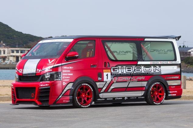 GIBSON ギブソン ハイエース 200系 標準 フロントバンパー用アンダーリップ GT 未塗装 配送先条件有り