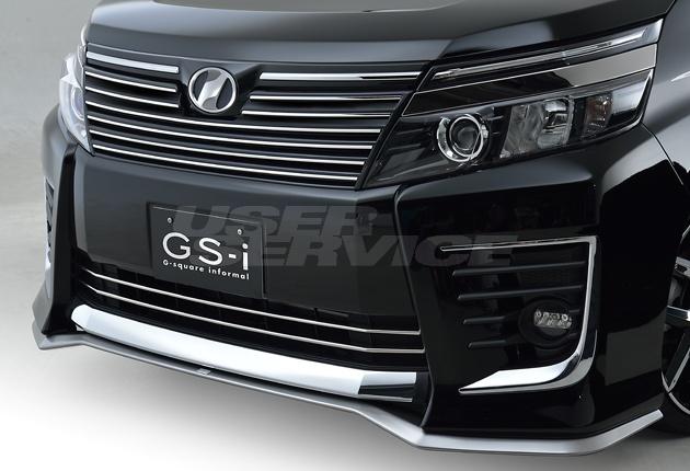 ジーコーポレーション ジーエスアイ ヴォクシー ZRR80/85 フロントスポイラー 塗装済 G-CORPORATION GS-i