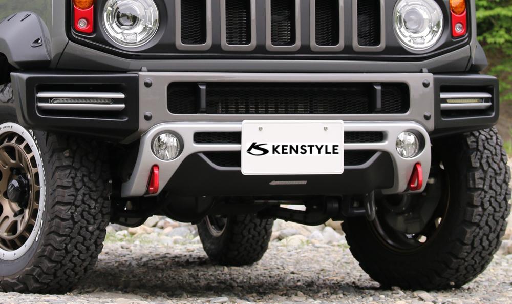 ケンスタイル ACTIVE ジムニー シエラ JB74W フロントバンパースポイラー 未塗装 KENSTYLE