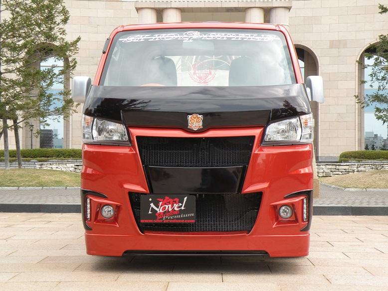 翔プロデュース ハイゼット トラック S500P S510P 3Dバットフェイス ボンネット Novel Premium ノベル プレミアム 超翔劇越 配送先条件有り
