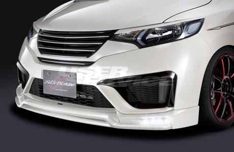 シルクブレイズ フィット GK3/4/5/6 GP5/6 3点セット 単色塗装 LED付マフラーカッター付 SILK BLAZE