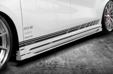 シルクブレイズ アルファード 30系 AGH/GGH/AYH 30 35W 後期 サイドパネル 単色塗装 SILK BLAZE GL-30AL-SP2-### GLANZEN YOROI グレンツェン 鎧