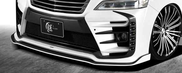 シルクブレイズ 30ヴェルファイア GGH AGH30系W AYH30W 後期 フロントリップ 単色塗装 SILK BLAZE GL-3VZ-BL-### GLANZEN YOROI グレンツェン 鎧