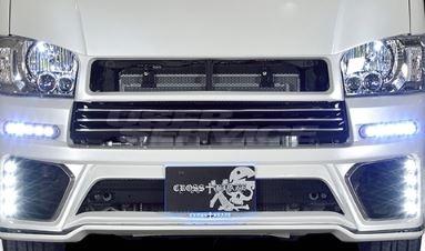 ROWEN ロウェン ハイエース 200系 KDH20# TRH20# 前期 フロントグリル Face.1 塗装済 クロスブレイズ CROSS BLAZE トミーカイラ 1T019C00#