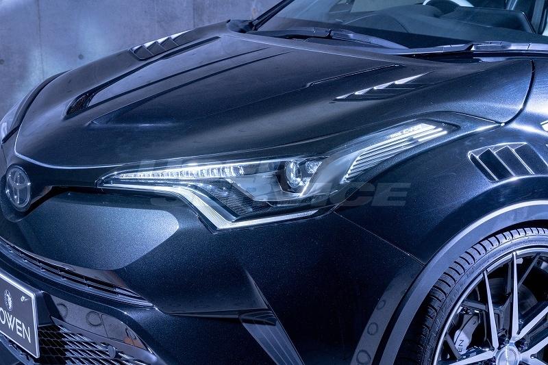 ROWEN ロウェン C-HR RR NGX50 ZYX10 ヘッドライトガーニッシュ 塗装済 SVプレミアムエディション SV PREMIUM Edition トミーカイラ 1T026H00#