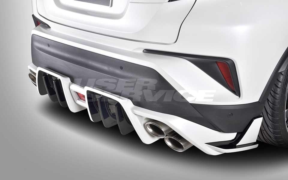 ROWEN ロウェン C-HR RR NGX50 ZYX10 リヤアンダーディフューザー 塗り分け塗装済 SVプレミアムエディション SV PREMIUM Edition トミーカイラ 1T026P00##