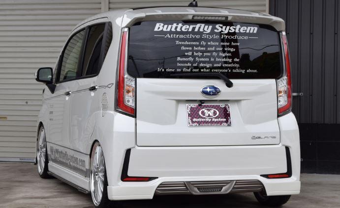 バタフライシステム ステラ カスタム LA150F リアハーフスポイラー 付加タイプ Butterfly System GLANZ FLAP グランツ フラップ
