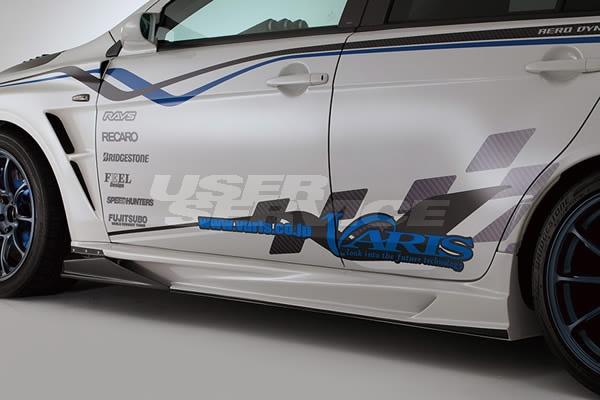VARIS バリス ランサーエボリューションX ランエボ CZ4A サイドスカート+AIR SHROUD ver2 カーボン VAMI-220