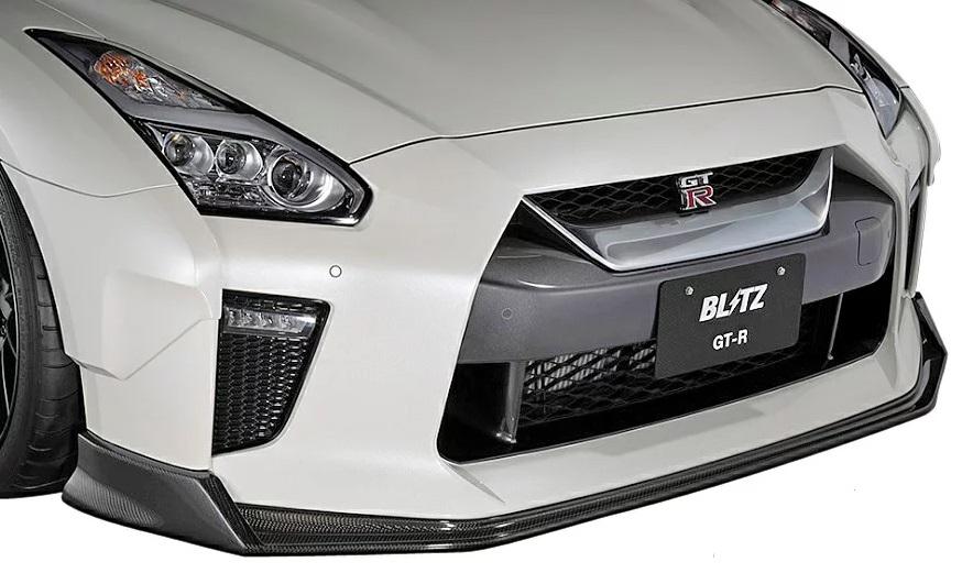 ブリッツ GT-R R35 フロントリップスポイラー FRP製 60346 BLITZ AERO SPEED エアロスピード Rコンセプト W