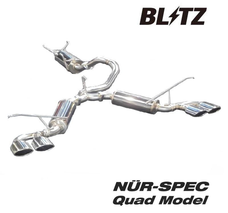 ブリッツ トヨタ ヴェルファイア GGH30W DBA-GGH30W マフラー VS Quad ステンレス 62518 BLITZ NUR-SPEC VS Quad ニュルスペック