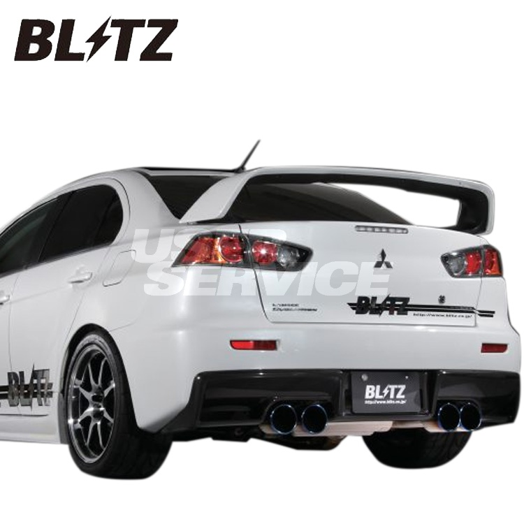 ブリッツ 三菱 ランサーエボリューションX ランエボ CZ4A CBA-CZ4A マフラー C-Ti Quad エアロ付 64175 BLITZ NUR-SPEC ニュルスペック