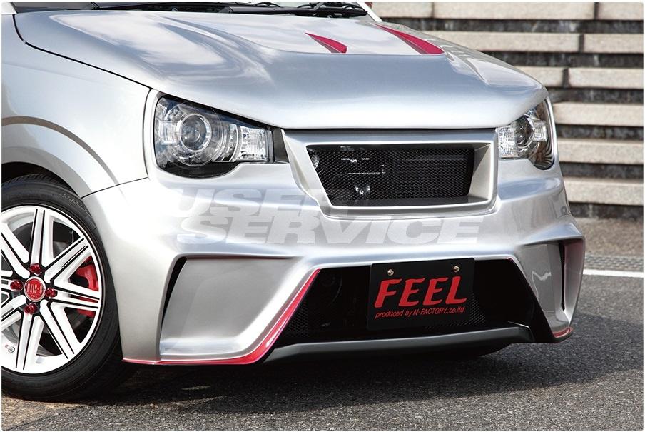 FEEL フィール アルト アルトワークス HA36 ターボRS フロントバンパー グリル一体型 ストリートタイプR シリーズ