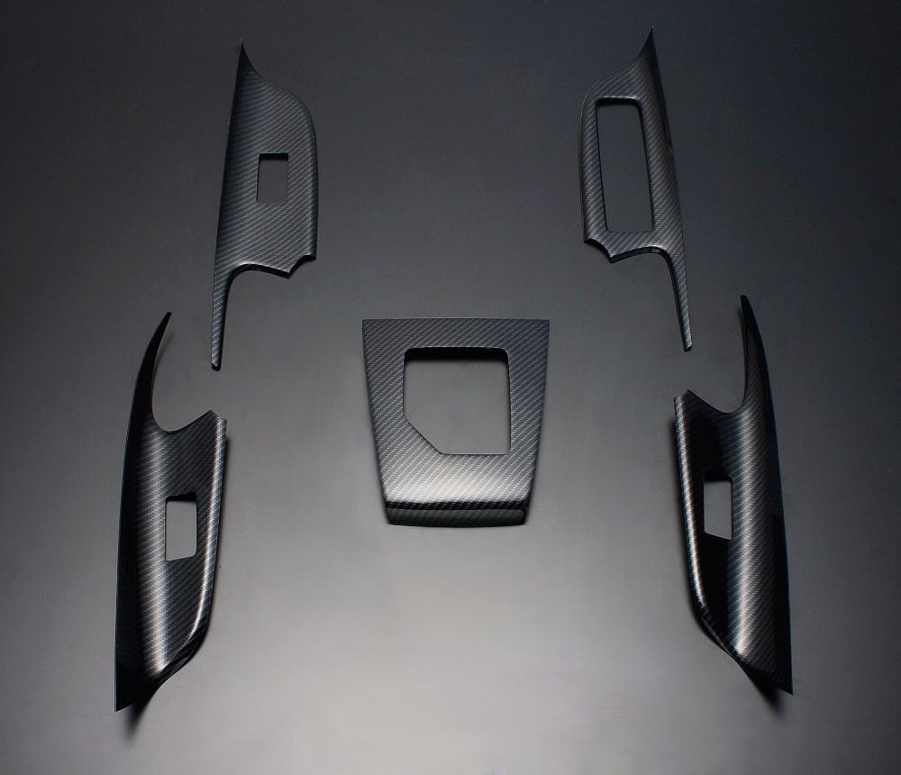 ハリアー 60系 FEGGARI フェガーリ ウォーベンカーボン(綾織カーボン調) ハイグレード インテリアパネル 5ピース HA60CB