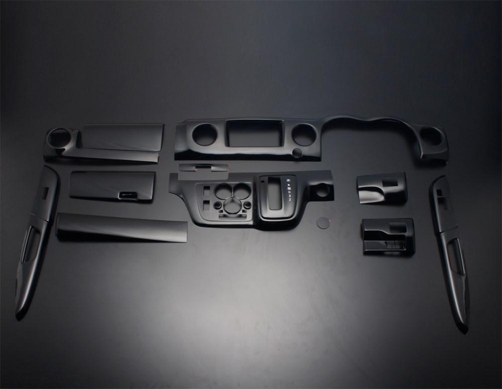 NV350 キャラバン E26 FEGGARI フェガーリ ピアノブラック ハイグレード インテリアパネル 12ピース PLNV350PB