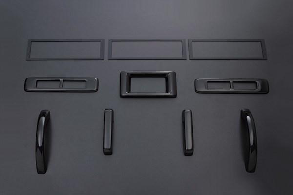 NV350 キャラバン E26 FEGGARI フェガーリ ピアノブラック ハイグレード インテリアパネル リア用10ピース PLT899