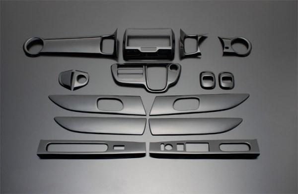 エヌボックス エヌボックスカスタム JF1 2 FEGGARI フェガーリ ピアノブラック ハイグレード インテリアパネル 15ピース PLT878