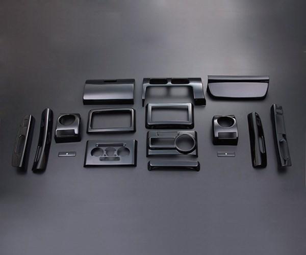 コンテ コンテカスタム L575 585 FEGGARI フェガーリ ピアノブラック ハイグレード インテリアパネル 16ピース PLT494
