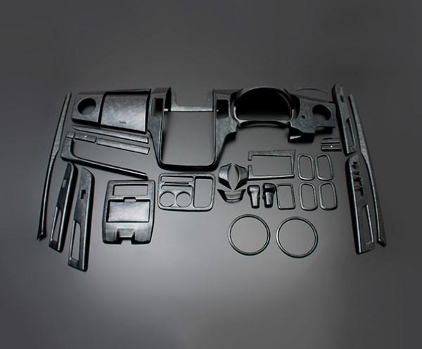 ワゴンR スティングレー MH23 FEGGARI フェガーリ 黒木目 ハイグレード インテリアパネル 39ピース PLT436