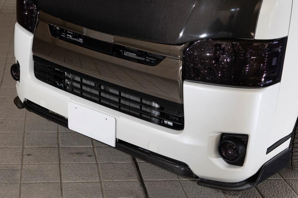 200 ハイエース レジアスエース FEGGARI フェガーリ 2013/11 ~ 4型 4.5型 標準ボディ フロントカーボンフリッパー+フロントカーボンスポイラー 3点セット FFPCSET