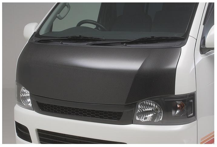 ボクシースタイル ハイエース 200系 4型 標準(ナロー) ユーロカーボンボンネット boxystyle