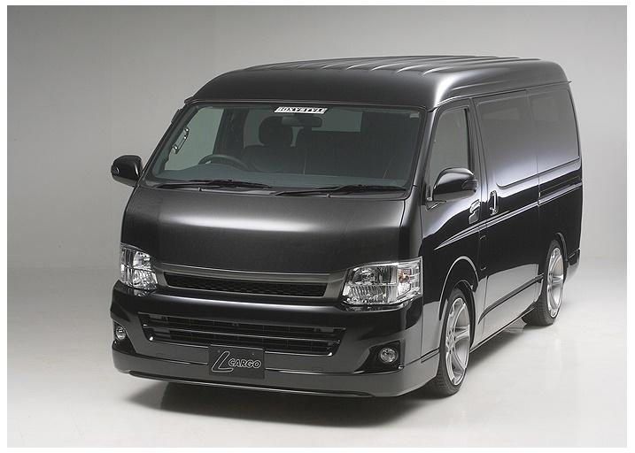 ボクシースタイル ハイエース 200系 1型 2型 3型 4型 ワイド ユーロカーボンボンネット boxystyle